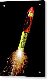 Firework Acrylic Print by Victor De Schwanberg