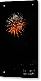 Fireworks - White And Orange Acrylic Print by Gayle Melges