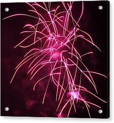 Rockets Red Glare Fireworks Acrylic Print by Howard Tenke