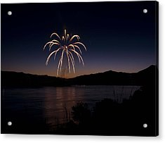 Acrylic Print featuring the photograph Fireworks 11 by Sonya Lang