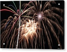 Fireworks 3 Acrylic Print by Andrew Nourse