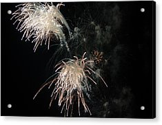 Acrylic Print featuring the photograph Fireworks 3 by Susan  McMenamin
