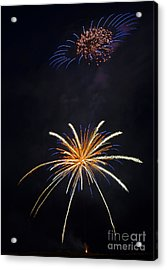 Fireworks 3 The Spaceship Acrylic Print by Dianne Phelps