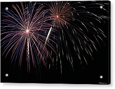 Fireworks 4 Acrylic Print by Andrew Nourse
