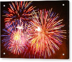 Acrylic Print featuring the photograph Fireworks 4th Of July by Robert Hebert