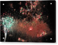 Burj Khalifa Fireworks 6 Acrylic Print