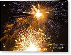 Fireworks Abstract 01 Acrylic Print by Crush Creations