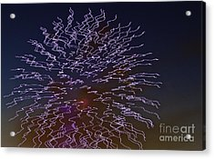 Fireworks Abstract 02 Acrylic Print by Crush Creations