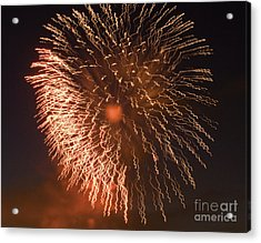 Fireworks Abstract 04 Acrylic Print by Crush Creations