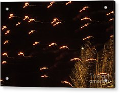 Fireworks Abstract 05 Acrylic Print by Crush Creations