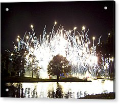 Fireworks At Epcot 2 Acrylic Print