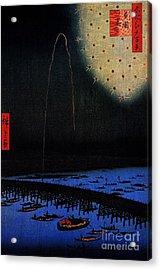 Fireworks At Ryogoku Acrylic Print by Pg Reproductions