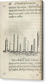 Fireworks Acrylic Print by British Library