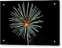 Fireworks Bursts Colors And Shapes 2 Acrylic Print by SC Heffner