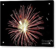 Acrylic Print featuring the digital art Fireworks By Aclay by Angelia Hodges Clay