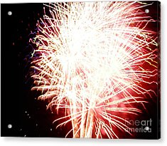 Acrylic Print featuring the digital art Fireworks By Angela by Angelia Hodges Clay