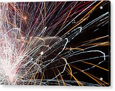 Fireworks Cropped Acrylic Print by Carl Clay
