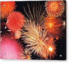Fireworks Display Acrylic Print by Panoramic Images