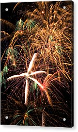 Fireworks Exploding Everywhere Acrylic Print by Garry Gay