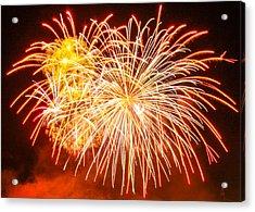Acrylic Print featuring the photograph Fireworks Flower by Robert Hebert