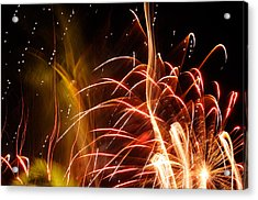 Acrylic Print featuring the photograph Fireworks Finale  by Haleh Mahbod