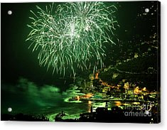 Acrylic Print featuring the photograph Fireworks Hdr by Antonio Scarpi