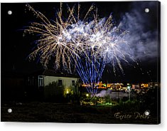Acrylic Print featuring the photograph Fireworks In The Garden by Enrico Pelos