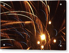 Fireworks In The Wind Acrylic Print by Anthony Dalton