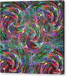 Fireworks Acrylic Print by Krazee Kustom