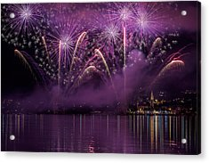 Fireworks Lake Pusiano Acrylic Print