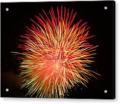 Acrylic Print featuring the photograph Fireworks  by Michael Porchik