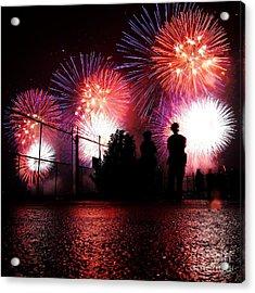 Fireworks Acrylic Print by Nishanth Gopinathan