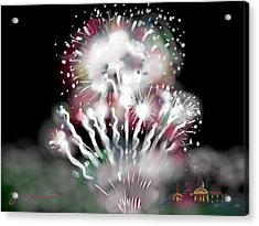 Fireworks On High School Hill Acrylic Print