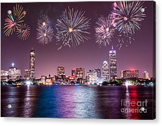 Fireworks Over Boston Acrylic Print