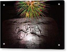 Fireworks Over Stone Mountain Acrylic Print
