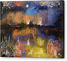 Fireworks Display Acrylic Print by Michael Creese