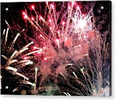 Fireworks  Acrylic Print by Paul Ganser