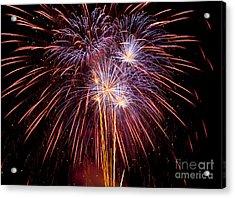 Fireworks Acrylic Print by Philip Pound