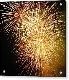 Acrylic Print featuring the photograph Fireworks by Ramona Johnston