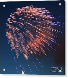 Fireworks Series I Acrylic Print by Suzanne Gaff