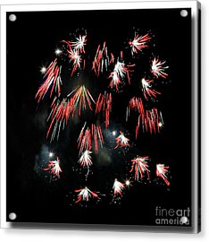 Acrylic Print featuring the photograph Fireworks Squared by Chris Anderson