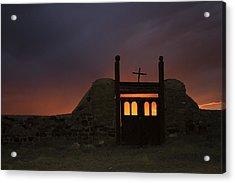 Firey Sunset Acrylic Print by Jeanne Hoadley