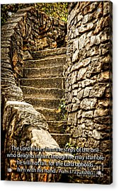 Firm Are The Steps Acrylic Print