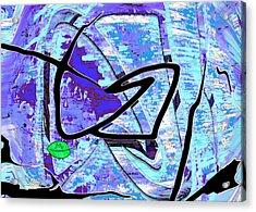 Firmament Cracked #3 - Masks And Cracks Acrylic Print by Mathilde Vhargon