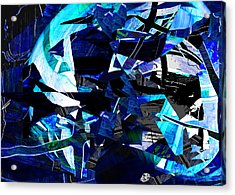 Firmament Cracked #9 - All Which Once Was Beautiful Acrylic Print by Mathilde Vhargon