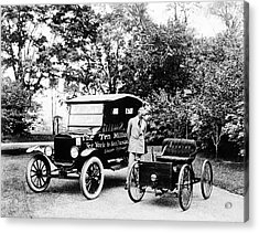 First And Ten Millionth Ford Cars Acrylic Print by Library Of Congress