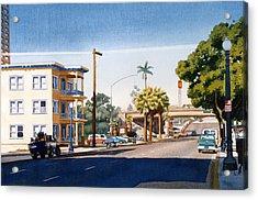 First Avenue In San Diego Acrylic Print by Mary Helmreich