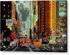 First Avenue - New York Ny Acrylic Print