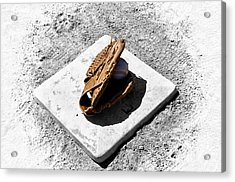 First Base Acrylic Print by Bill Cannon