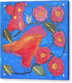 Acrylic Print featuring the painting First Bird by Artists With Autism Inc